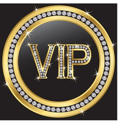 Vip with diamonds vector image vector image