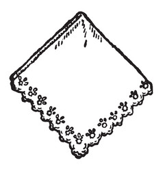 A scarf vintage engraving vector