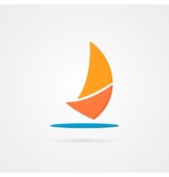 Abstract sailboat logo design vector