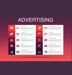 advertising infographic 10 option template market vector image