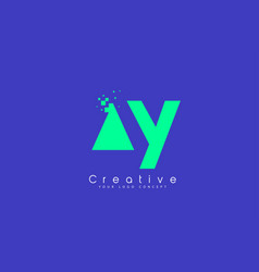 Ay letter logo design with negative space concept vector