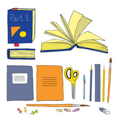 back to school colorful set vector image