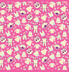 background collection of baby and children clothes vector image