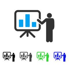 Bar chart presentation flat icon vector