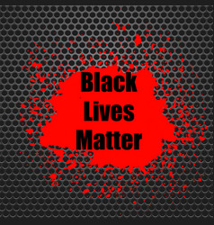 Black lives matter banner with red blob for vector