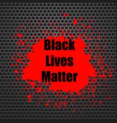 Black lives matter banner with red blob vector