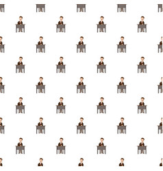 businessman talking on phone pattern vector image