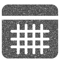 Calendar Lines Page Grainy Texture Icon vector