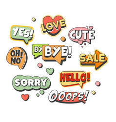 Comic speech bubbles for different emotions and vector