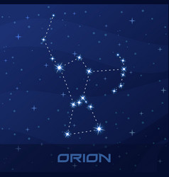 constellation orion hunter night star sky vector image