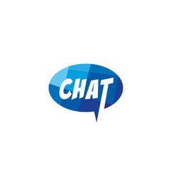 creative chat letter talk bubble logo design vector image