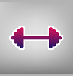 Dumbbell weights sign purple gradient vector
