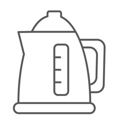electric kettle thin line icon drink ppliance vector image