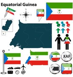 Equatorial Guinea map vector