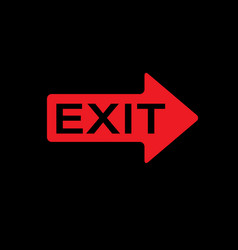 Exit icon for web and mobile exit sign vector