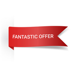 Fantastic offer realistic detailed curved paper vector