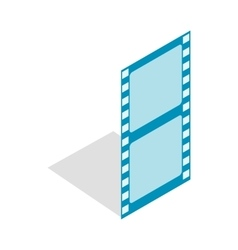 Film strip icon isometric 3d style vector