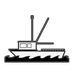 fishing ship isolated vector image