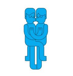 gay kissing lgbt love man kiss lovers kiss and vector image