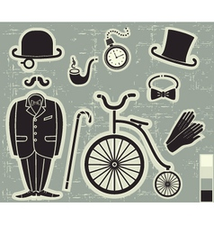 Gentlemens fashion vector