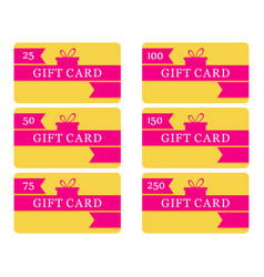 gift card with gift box and ribbon shopping vector image