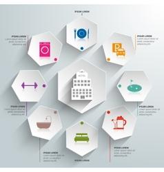 Hotel paper infographics vector