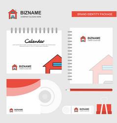 house garage logo calendar template cd cover vector image