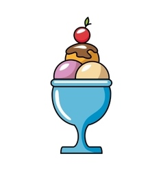 ice cream delicious isolated icon vector image