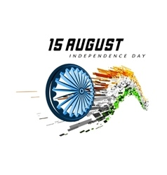 Indian Independence Day background vector image