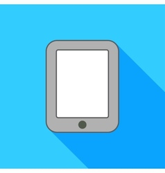 Ipad on blue background vector