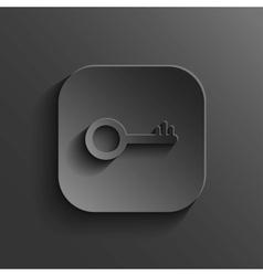 Key icon - black app button vector image