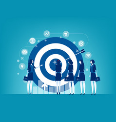 leader and colleague engaged in company goals vector image