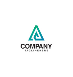 lines elegant letter a logo vector image