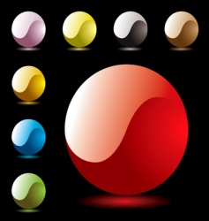 marble shine ying yang vector image