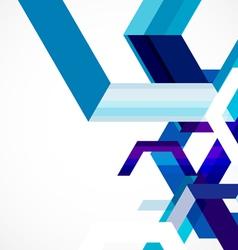 Modern blue geometrical abstract template vector