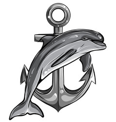 Monochromatic dolphin around an anchor with a rope vector