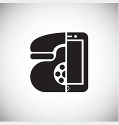 old new phone on white background vector image