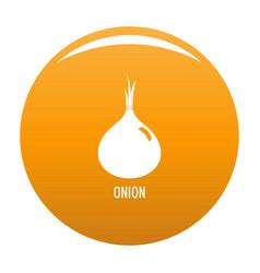 onion icon orange vector image