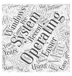 Operating system Word Cloud Concept vector