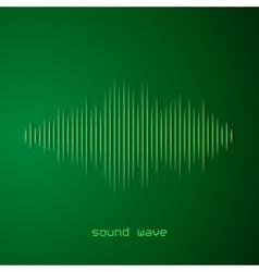 Paper sound waveform with shadow vector image vector image