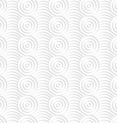Paper white circles on bulging waves vector