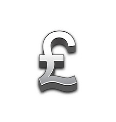Pound 3d sign isolated vector