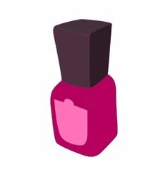Purple nail polish bottle icon cartoon style vector