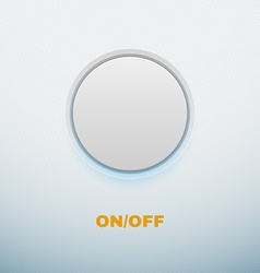 Realistic button on white background vector