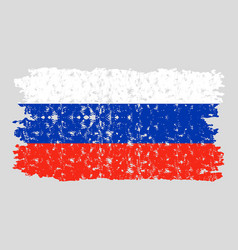 russia flag texture vector image