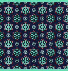 seamless snow pattern vector image