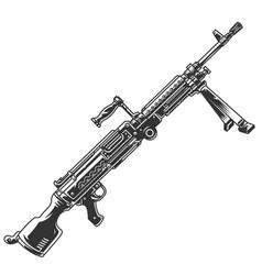 Semi-automatic rifle concept vector