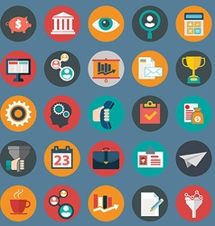 set various financial service items web and vector image