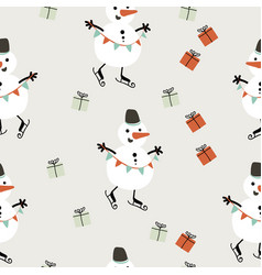 simple christmas seamless pattern vector image