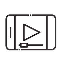 social media smartphone video content digital vector image